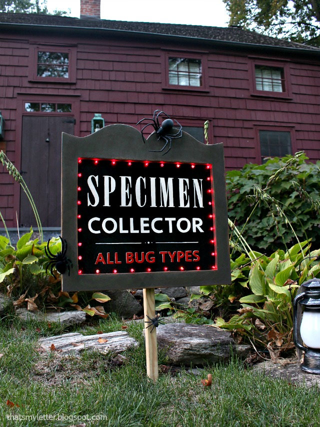 specimen collector yard sign