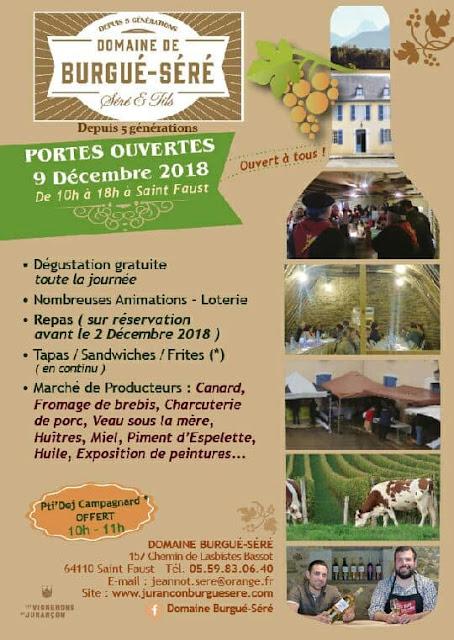 Journée Portes Ouvertes en Jurançon 2018 Domaine Burgué-Séré