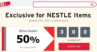 11street 50% Bonus Coupon Discount RM30 Nestle Items