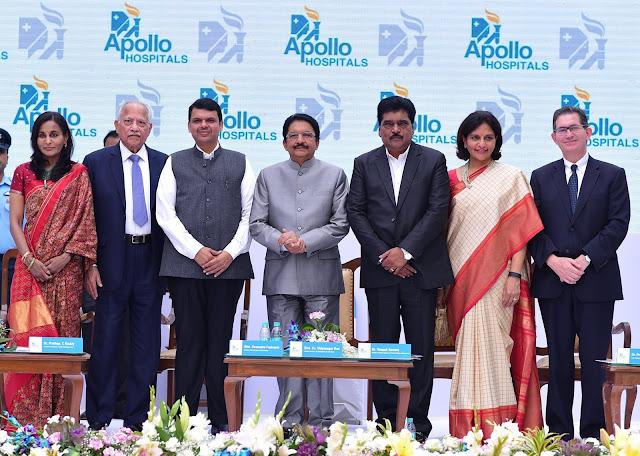 Shri CH.Vidyasagar Rao, Hon'ble Governor of Maharashtra and Shri Devendra Fadnavis, Hon'ble Chief Minister of Maharashtra inaugurate Apollo Hospitals