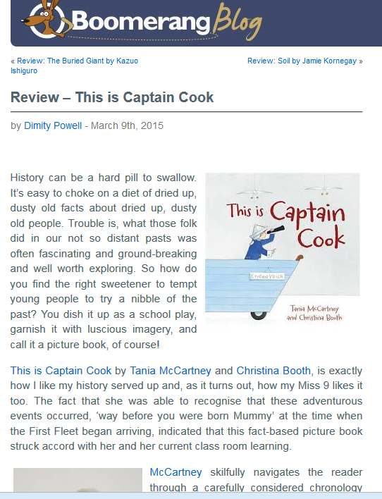 http://blog.boomerangbooks.com.au/review-this-is-captain-cook/2015/03