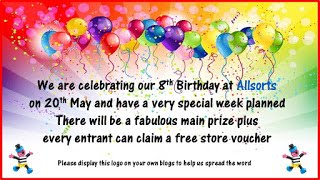 Allsorts challenge blog 8th birthday