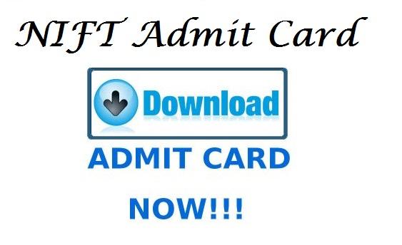 NIFT Admit Card 2017