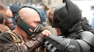 The Dark Knight Rises: The Climactic Duel Between Batman (played by Christian Bale) and Bane (played byTom Hardy), , Directed by Christopher Nolan