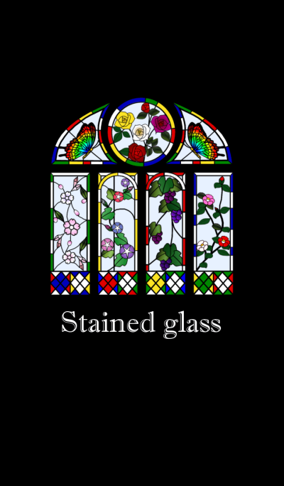 <Stained glass>