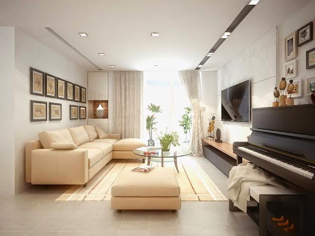 Hình ảnh bộ bàn ghế phòng khách nhỏ xinh được bài trí trong không gian căn phòng khách đẹp gia đình