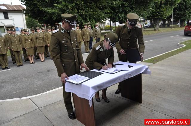 Cambio de mando de Carabineros de la Cuarta Comisaria de Río Bueno