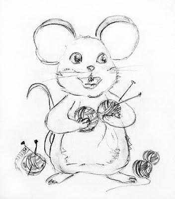 вязание Ольга Моисеенко, Мышка Мося, мышка-вязальщица