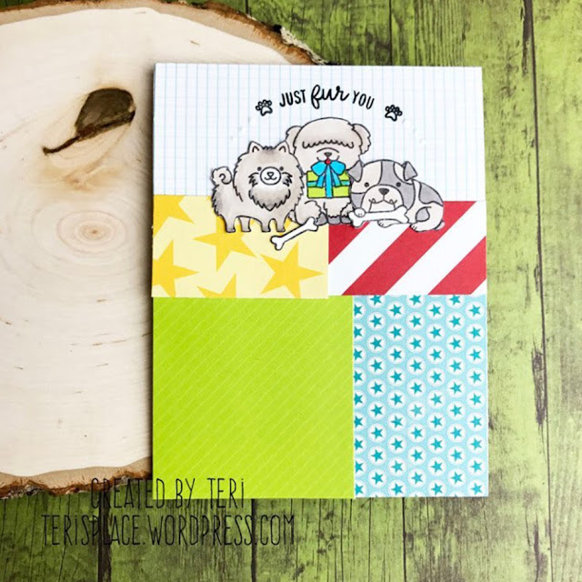 Sunny Studio Stamps: Party Pups Customer Card by Teri Anderson