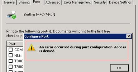Windows TIPS & SOLUTIONS: An error occurred during port