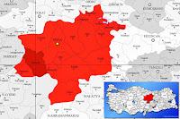 Şarkışla ilçesinin nerede olduğunu gösteren harita.