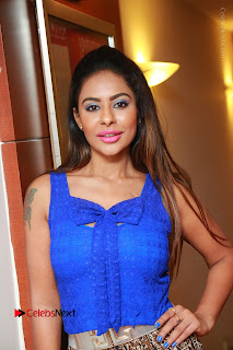 Telugu Actress Srilekha Reddy Latest HD Pos in Sleeveless Blue Top at Muse Art Gallery  0002.JPG
