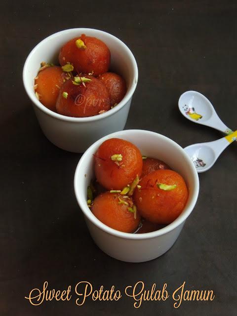 Sweet Potato Jamun, Shakarkandi Jamun