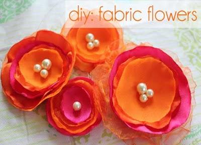 Como hacer flores con telas de organza o raso
