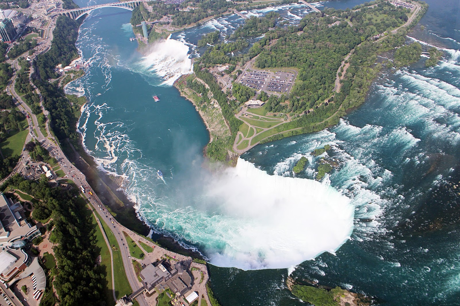 Helicopter ride over Niagara Falls, Canada