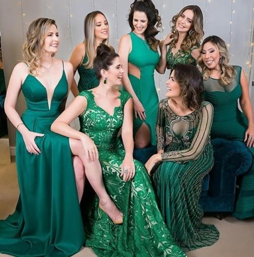 vestido de festa verde madrinhas