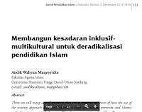 Contoh Jurnal Pendidikan Islam Pdf Download Gratis, Deradikalisasi,Inklusif-Multikultural