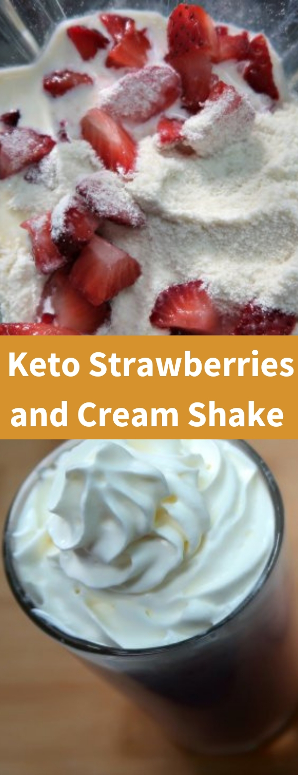 Keto Strawberries and Cream Shake Recipe