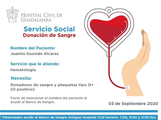 Urgente Servicio Social de Sangre HCG