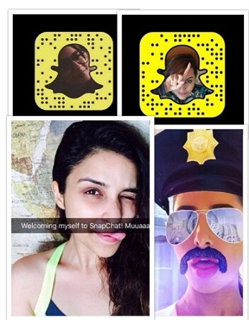 Bollywood Actress snapchat id pic