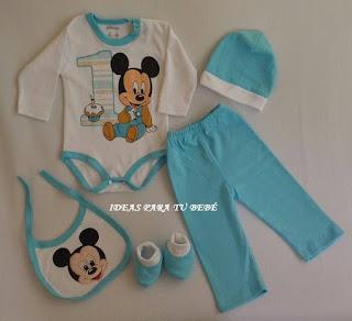 ropa para bebe mickey