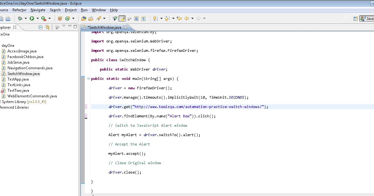 Switch Window Commands Selenium WebDriver ~ Learn Selenium Yourself