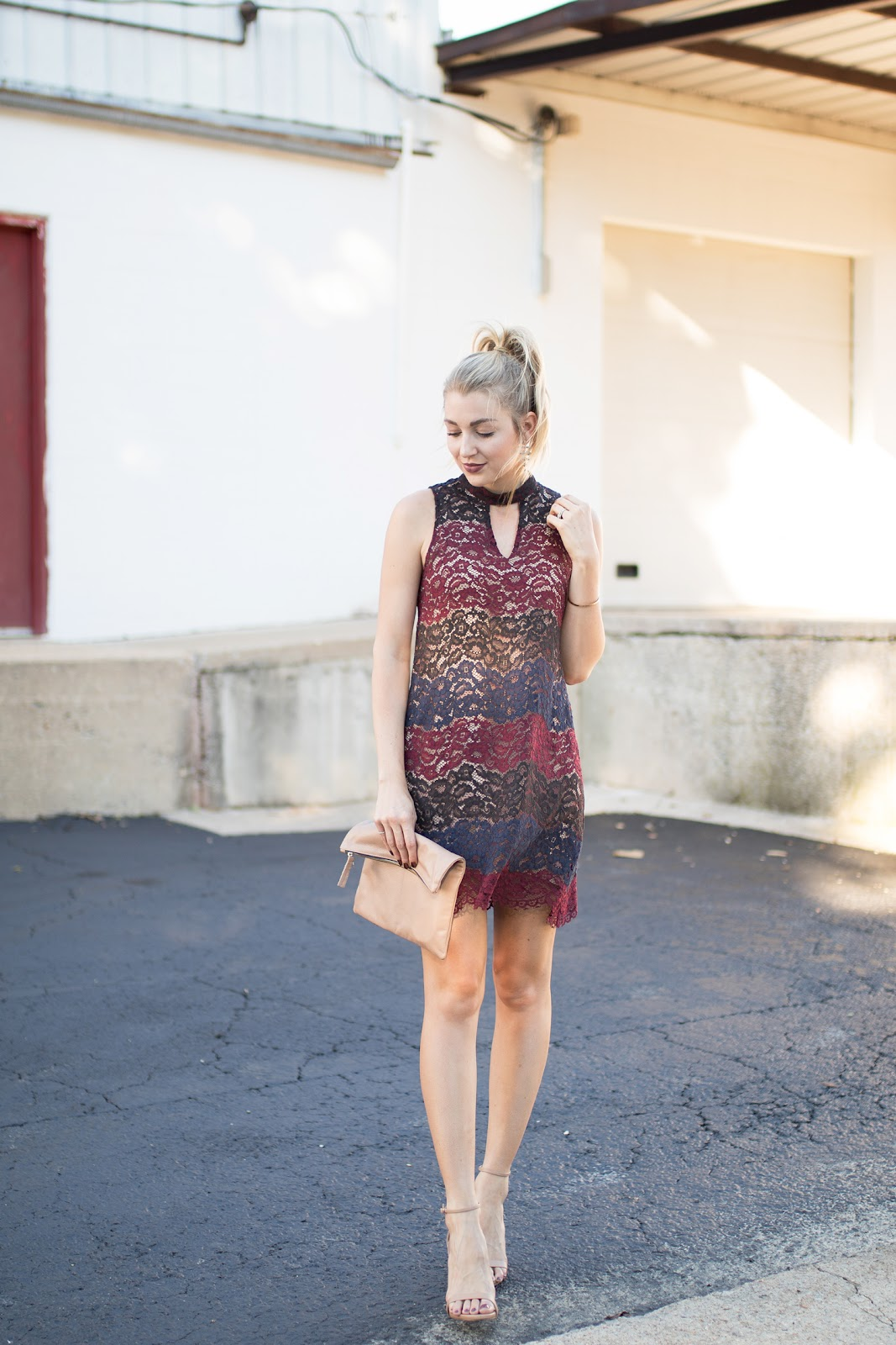Fall lace dress