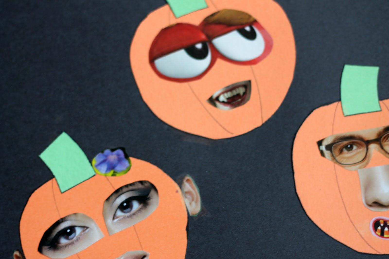 Jack O Lantern Collages Preschool Craft Reading Confetti