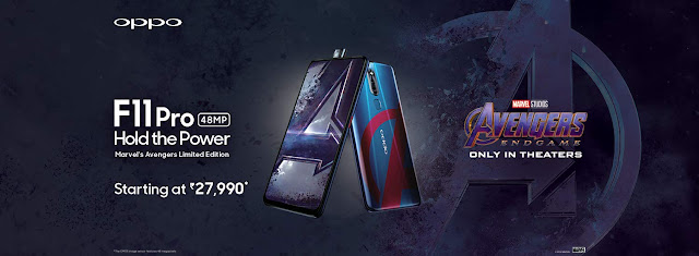 OPPO F11 Pro Avengers Limited Edition launched in India at Rs. 27,990