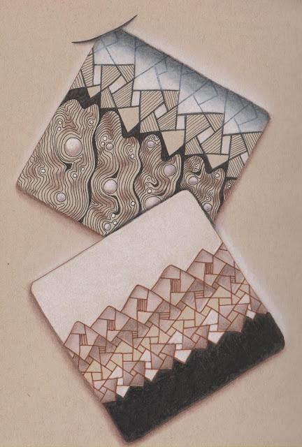 zentangle Eaxy L'Eaura renaissance tiles abstract