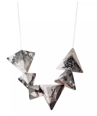The Best Jewellery Buys from the High Street this SS16 - Oliver Bonas - Luxe Pyramid Necklace - £22.00