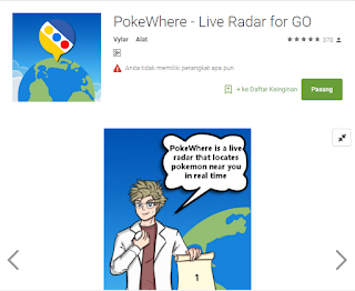 Cara Cepat Mengetahui Tempat Keberadaan Monster Pokemon Dengan PokeWhere