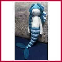 Sirena azul amigurumi