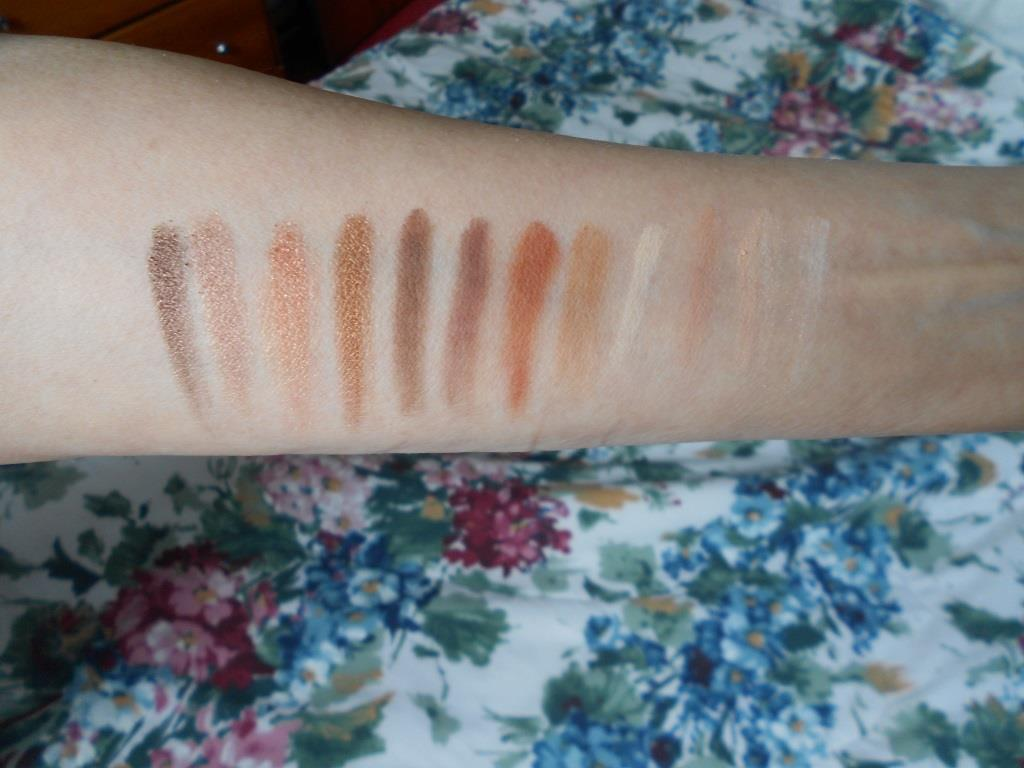 PUR Cosmetics Soiree Diaries Eyeshadow Palette swatches