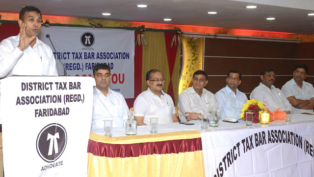 Organizing Monthly Meet by District Tax Bar Association Faridabad