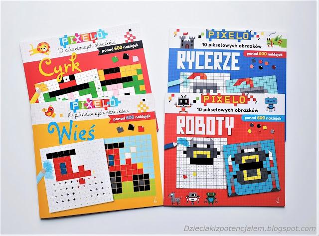 pixelo książeczki z naklejkami i kolorowanki w jednym