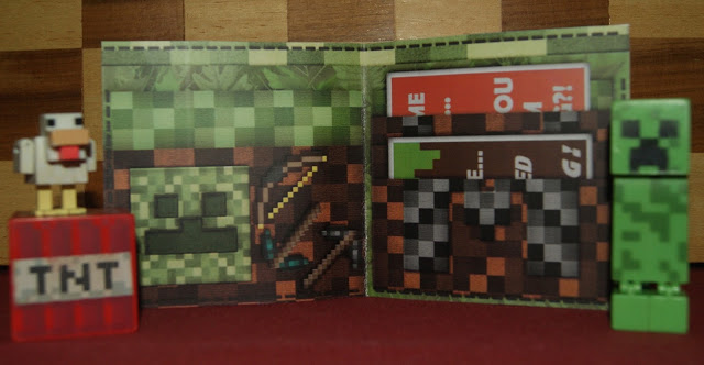 minecraft wallet gift card and money holder