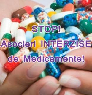 asocieri interzise de medicamente si alimente informatii medicale