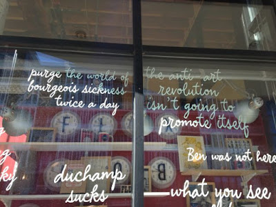 window display at open book