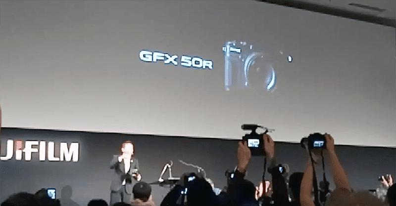 The new rangefinder style medium format camera, the GFX 50R
