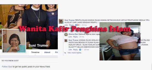 Wanita Kafir Penghina Islam Susi Trumer Sedang Dibidik Polisi