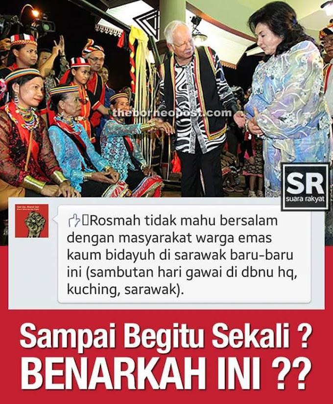 Pembangkang Guna Modal Konon Isteri PM Enggan Bersalaman Wanita Bidayuh #PRNSarawak