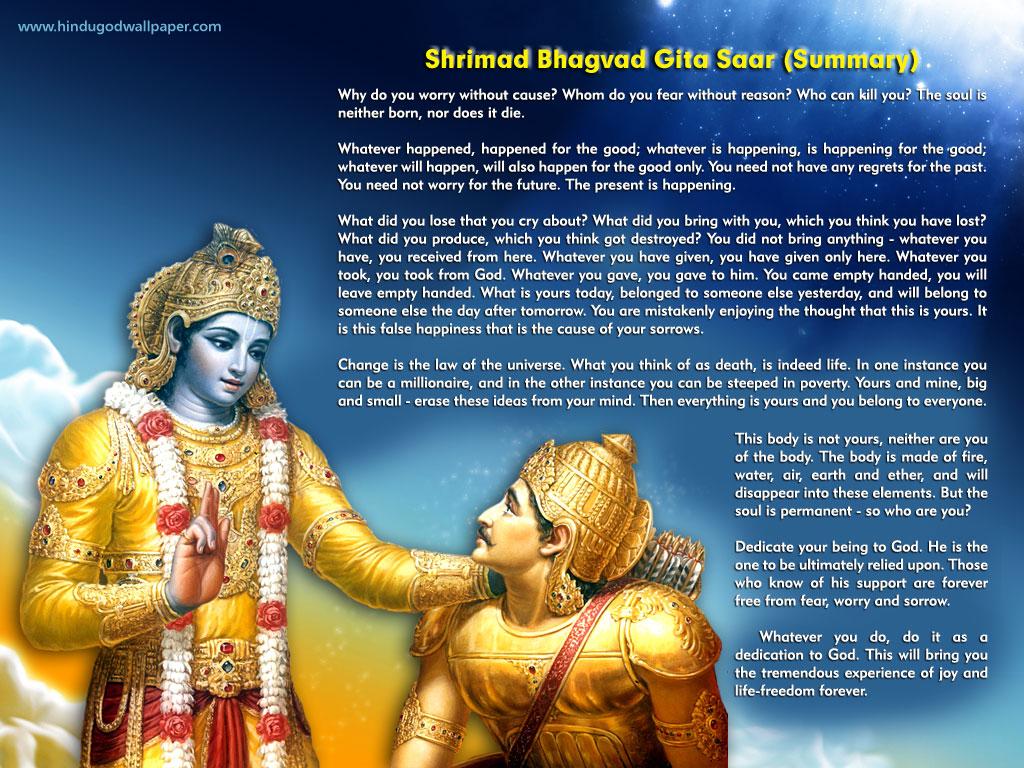 Geeta Saar Hindu God Wallpapers Free Download