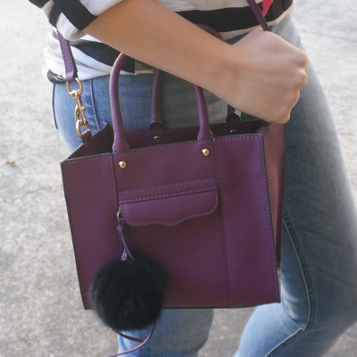 AwayFromTheBlue | Rebecca Minkoff plum purple mini M.A.B tote bag