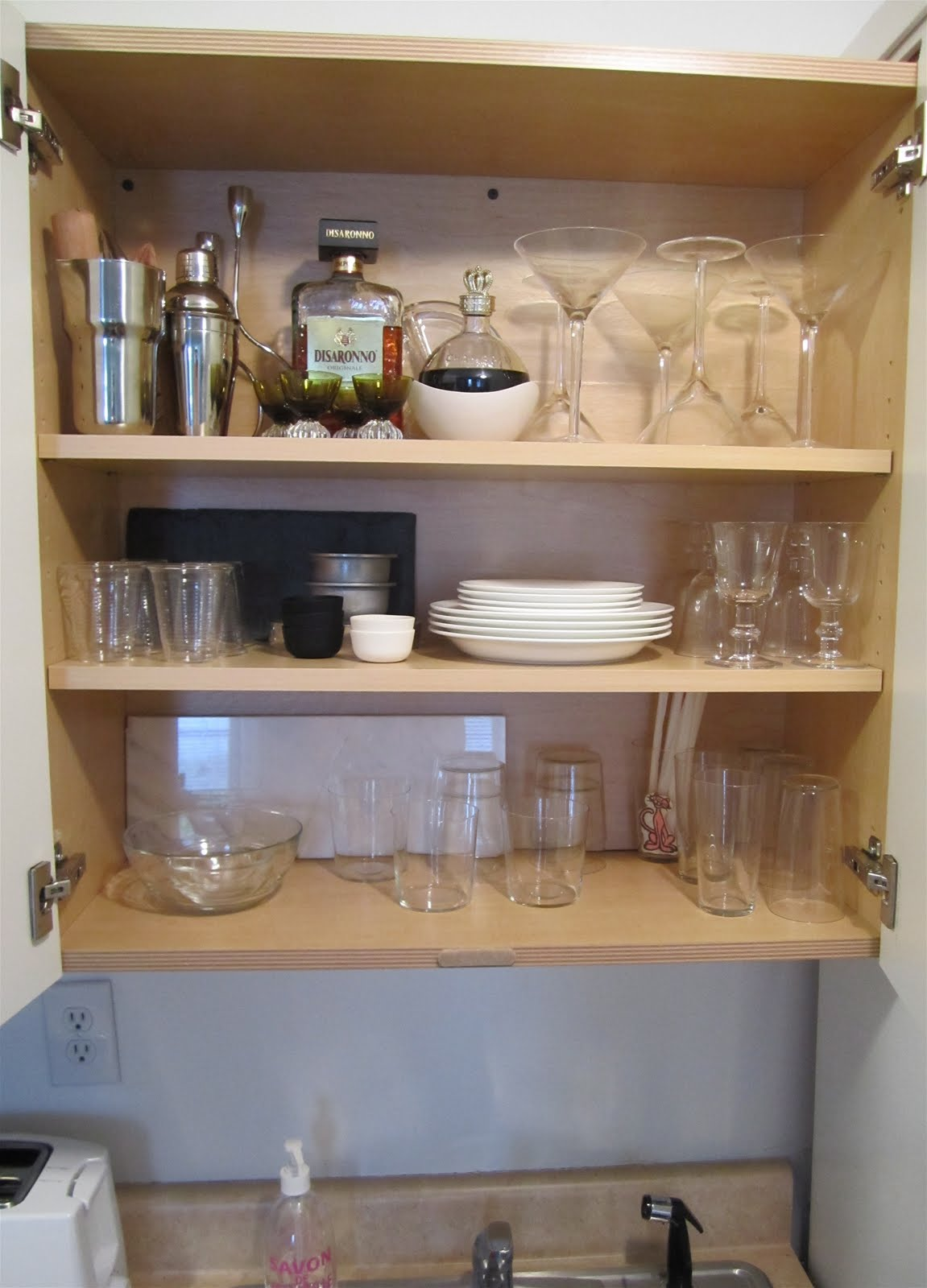 Upper Cabinets Over Kitchen Sink