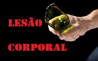 Resultado de imagem para LESÃO CORPORAL A GARGALO DE GARRAFA