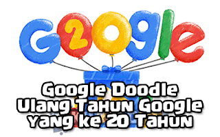 Google Doodle - Ulang Tahun Google yang ke 20 Tahun