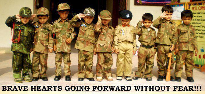 Pakistan Army Girl Wallpapers Young Kids In Pakistan Army Uniforms Photo Photos Blog