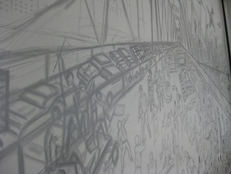 15 Temmuz 2016karakalem Duvar çizimi Engin çavuş Resim çizimleri