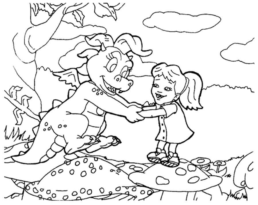 coloring pages of dragon tales - coloring activity pages cassie emmy coloring page